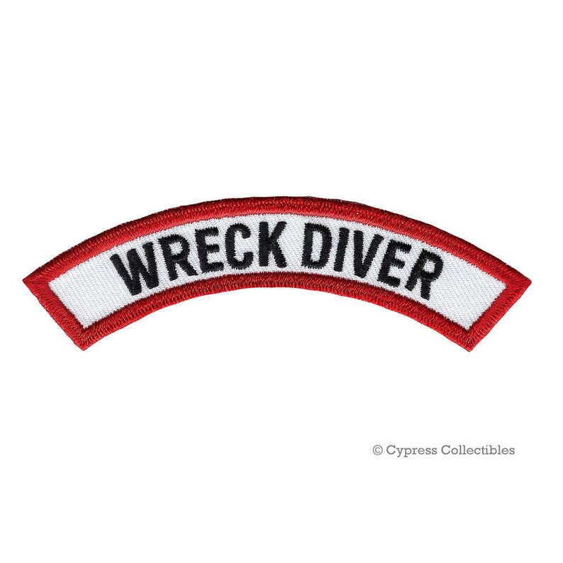 Wreck Diver Certification Chevron Patch Scuba Diving Etsy