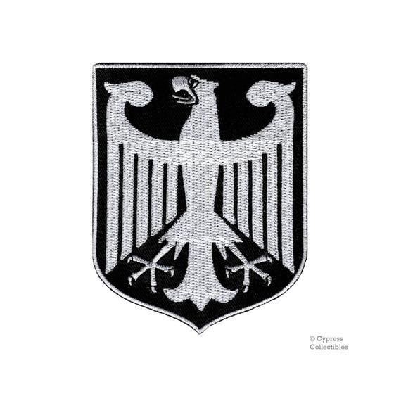 GERMAN FLAG embroidered iron-on PATCH GERMANY EMBLEM Deutschland Aufnäher NEW
