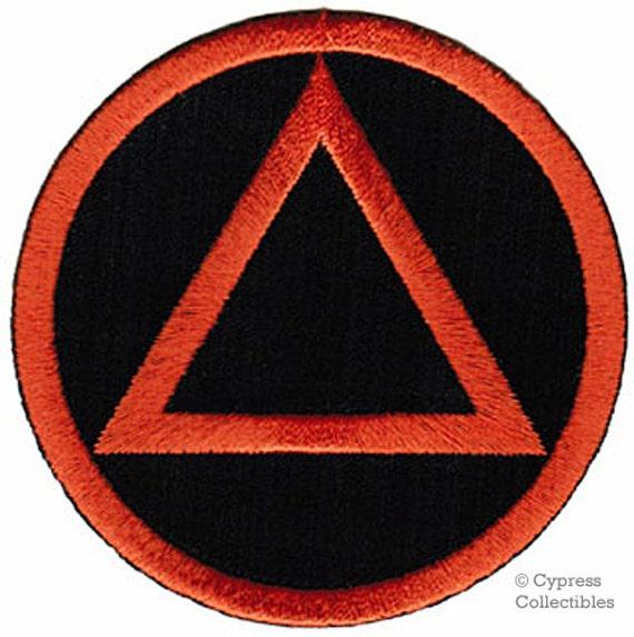 Alcoholics Anonymous Iron On Patch Sober Symbol Circle