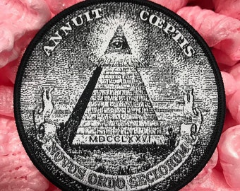 ANNUIT COEPTIS PATCH iron-on Pyramid All-Seeing Eye of Providence applique