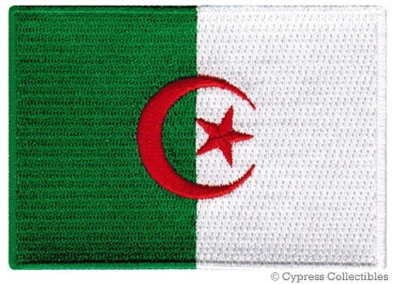 Coser o Hierro En Argelia Bandera Parche Bordado