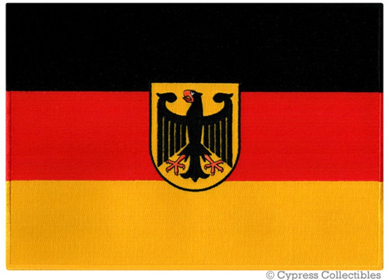 Large GERMANY EAGLE FLAG Patch iron-on embroidered applique Top Quality Aufnaher
