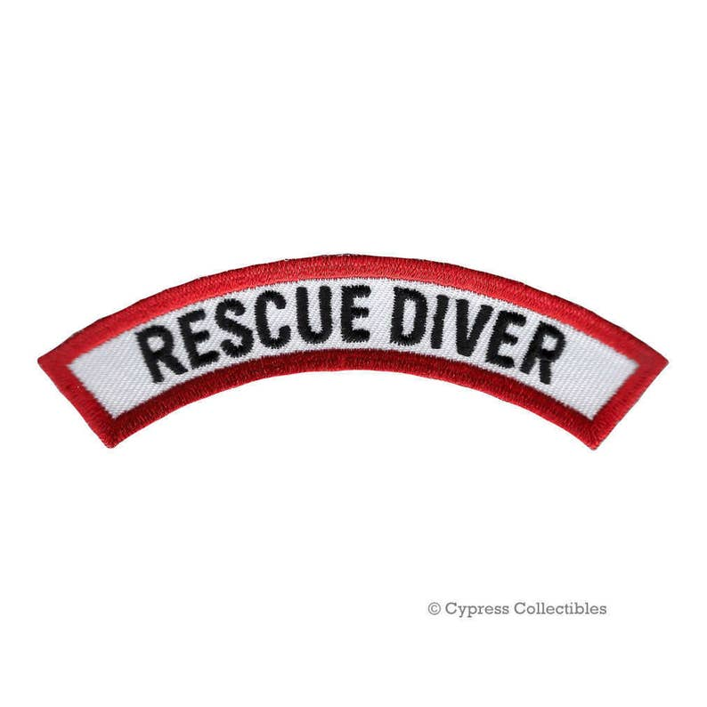 Rescue Diver Certification Chevron Patch Scuba Diving Experience