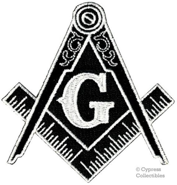 Compass Circles Mens Neck Tie Mason Freemasonry Square Black Necktie Gift