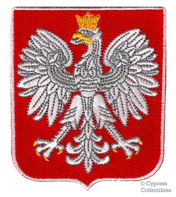FLAG PATCH PATCHES poland polska polish eagle   IRON ON EMBROIDERED SMALL