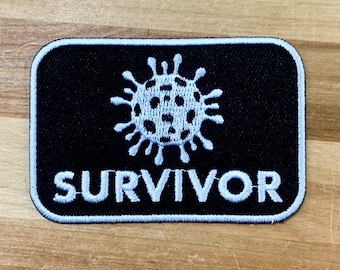 COVID-19 SURVIVOR Patch iron-on embroidered applique