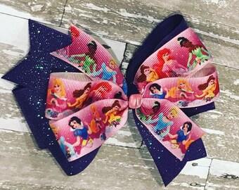 6b5b54c60ad169 Disney Princess Bows. CustomBowsByTiffanie
