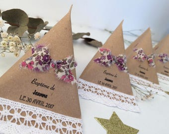 Bow and lace for weddings & christenings Original dragees boxes