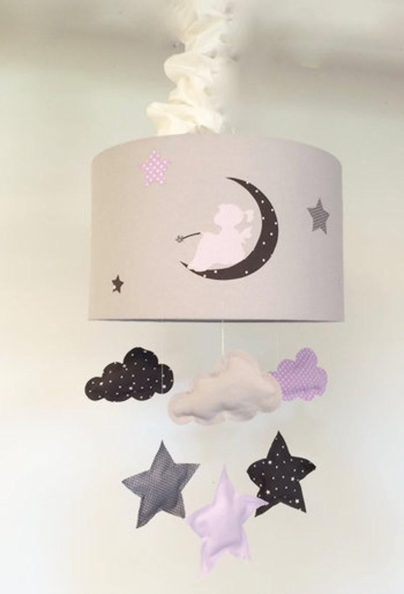 abat jour suspension nuage étoiles lune   etsy