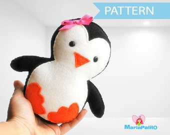 Penguin Pattern, Baby Penguin Sewing Pattern, PDF Penguin plush pattern - PREMIUM PATTERN - A315