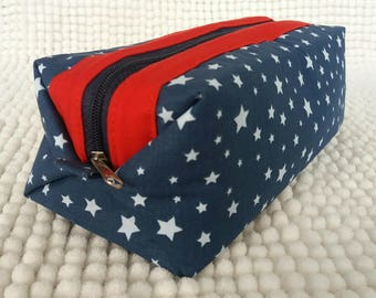 Kit cotton Blue Star cotton and grey solid red.