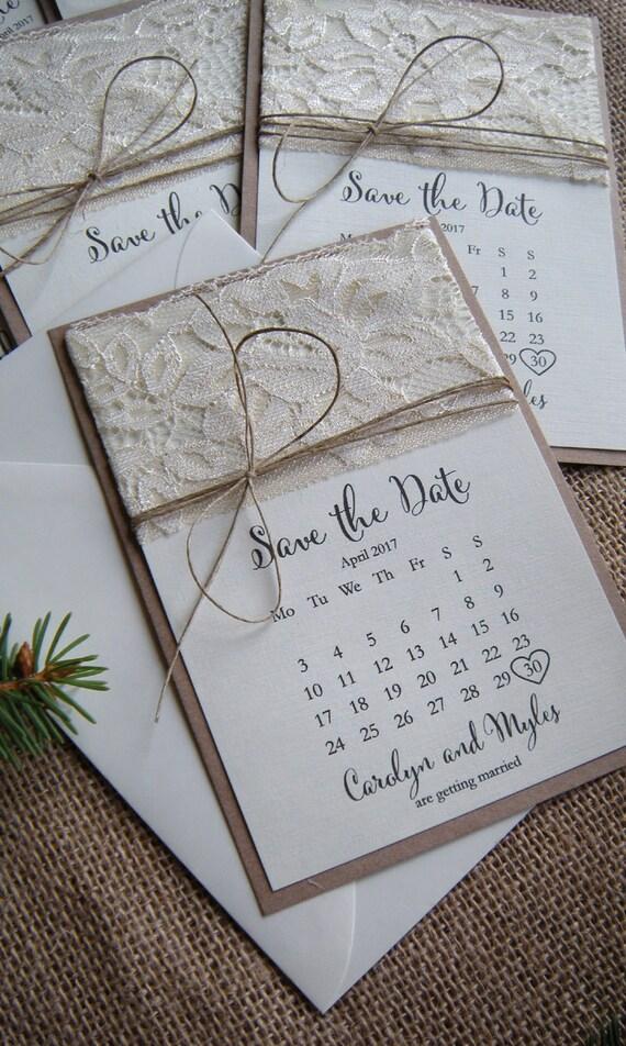 Lasergeschnittene Save The Date Hochzeitskarten Rustikal Mit