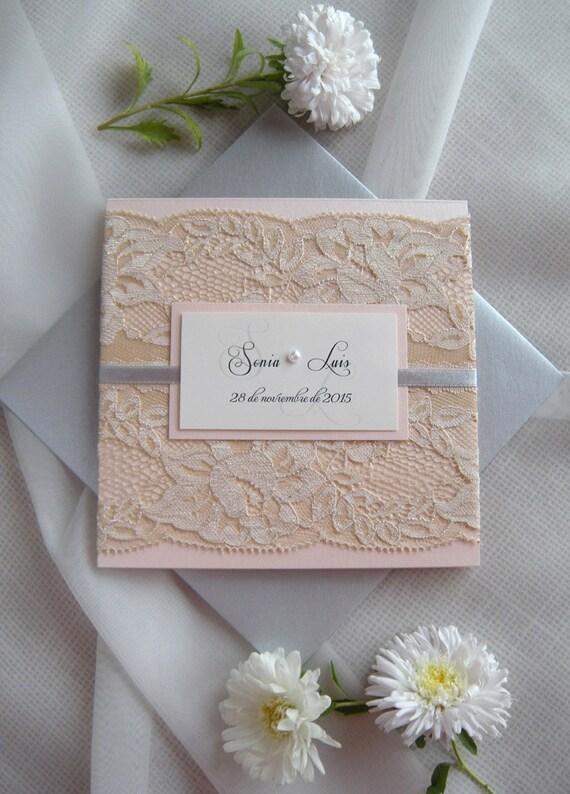 Rustikale Hochzeit Einladung Spitze Hochzeitseinladung
