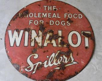 Vintage Winalot Enamel Sign