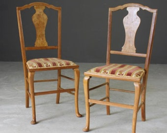 Pair French Style Bedroom Chairs