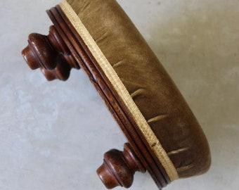 Antique Round Oak Footstool
