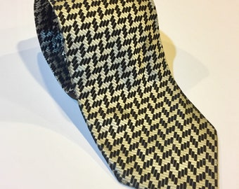 c9f7542b55d9 Vintage men's luxury necktie Valerio Garati silk black gray silver colors