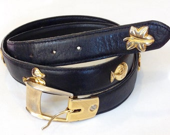 *New* Vintage Pierre Cardin Reversible Initial belt Genuine Leather made in USA