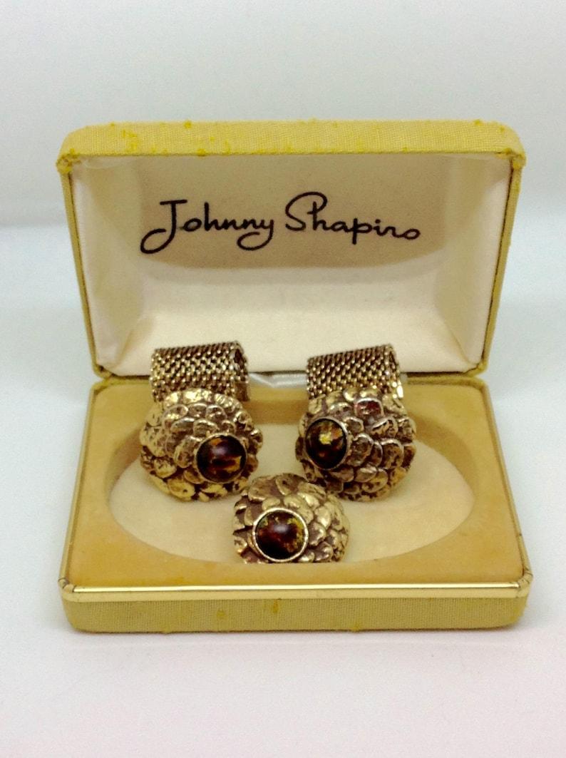 72628663a06c2d Biżuteria Vintage męskie zestaw spinek krawat Johnny Shapiro | Etsy
