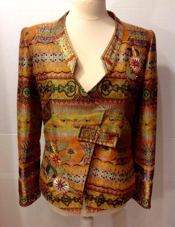 Christian Lacroix vintage jacket jacquard fabric b