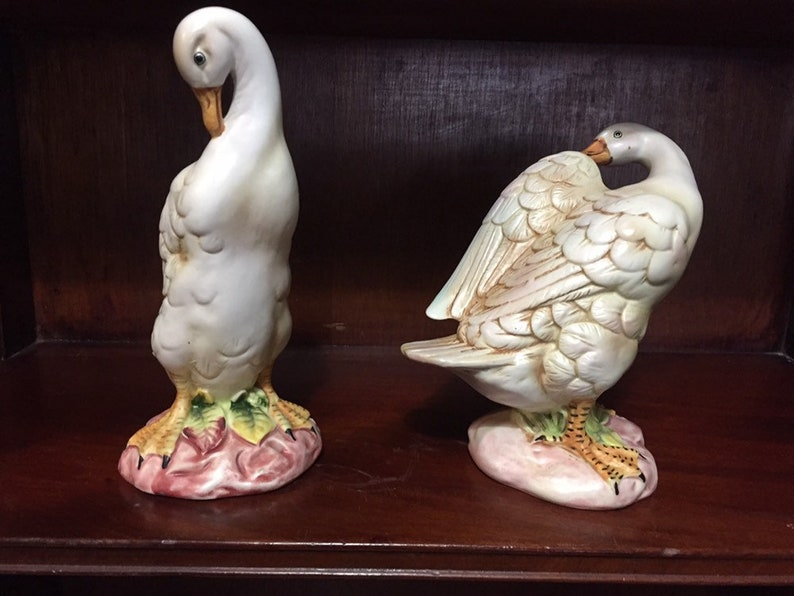 Norcrest Japan A-37 ducks Set of 2 geese
