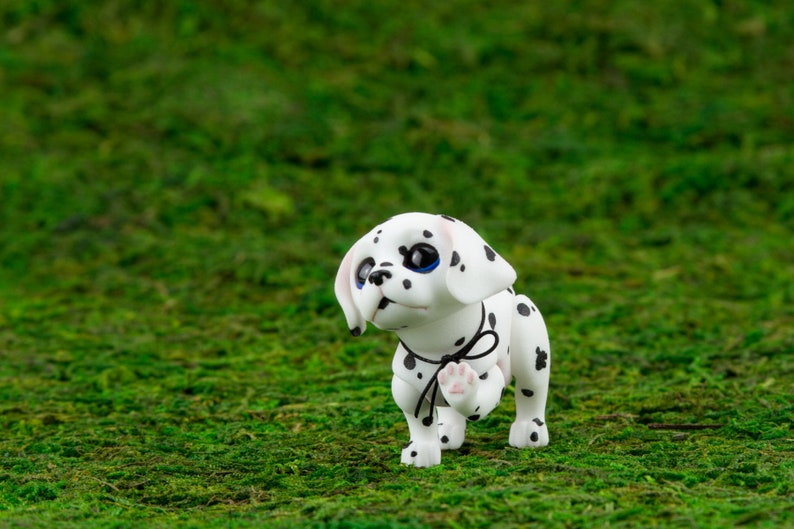 Magnet Jointed Doll To Order Spotty The Dalmatian Puppy A Etsy