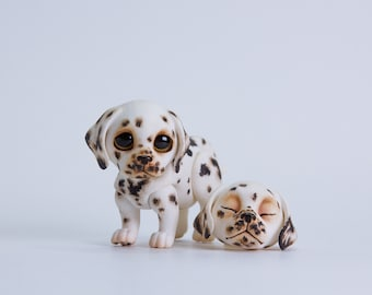 MJD #51 Toby the puppy, dalmatian puppy, 2 heads in the set