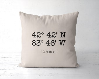 Custom Personalized Pillow Longitude