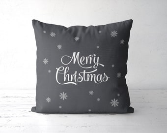 Baby It S Cold Outside Pillow Grey Christmas Pillow Gray Etsy