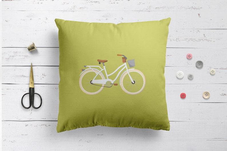 Nursery pillow Nursery cushion Bike pillow Mint Cushion Cover Mint pillow Bike pillow vintage bike mint pillow mint cushion retro pillow