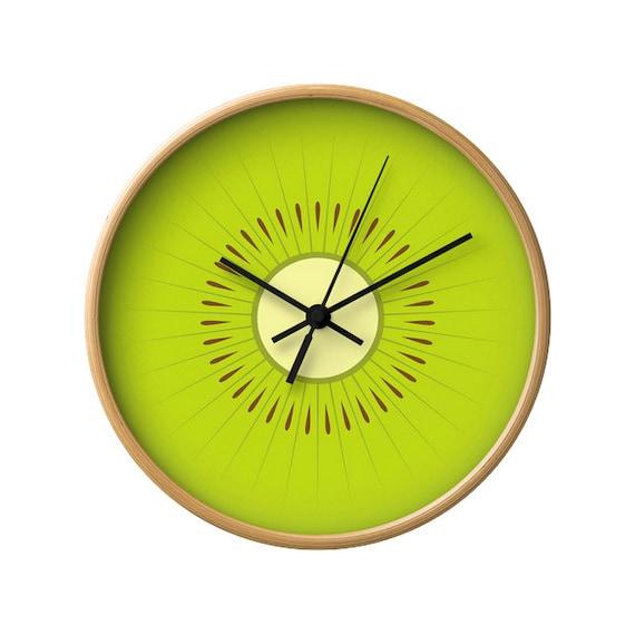 Kitchen Wall Clock | Kiwi Clock Kiwi Wall Clock Fruit Clock Green Clock Green Kitchen Wall Clock Green Wall Clock Green Kitchen Clock Fruit Clock Kitchen Decor