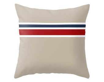 Nautical cushion Navy blue and white striped pillow navy blue striped pillow striped throw pillow cover nautical pillow striped cushion