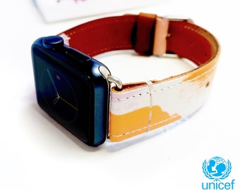 7c2a589822ceec Paint Style Leather Apple Watch Handmade Strap Fits Series 1-4    Apple  Watch Band 38mm 40mm 42mm 44mm Replacement Band Strap Wearable Tech