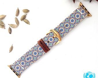 Moorish Leather Apple Watch Band 38mm, 42mm //  Handmade Apple Watch Strap iWatch Band iWatch Strap Wearable Tech Christmas Gift
