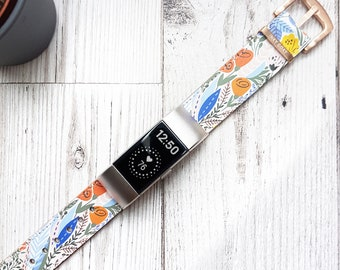 Exotic Leather Fitbit Watch Strap/Charge 1/Charge 2/Charge 3/Charge 4/Fitbit Ionic/Fitbit Inspire/Versa 1-3/Versa Sense/Fit bit Watch Band