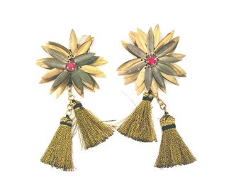 16f1f1ab33b327 Alexandra Floral Drop Tassel Earrings