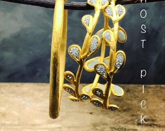 Organic formed 24k gold rustic bangle