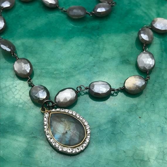 Labradorite moonstone necklace