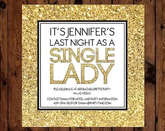 Single Lady Bachelorette Party Invitation Printable