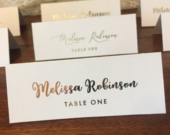 printed place cards etsy - Printed Place Cards