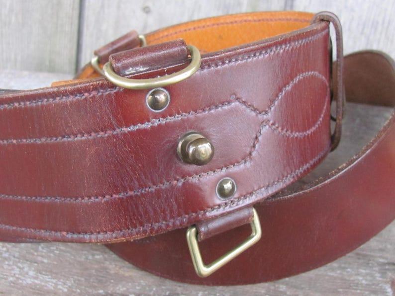 8916ddd33e11 Vintage Belt Moss Bros   Co Men s Belt Dark Brown