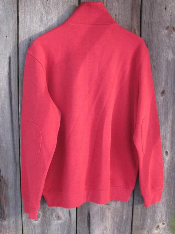 Vintage Sweater size XL; Unworn Vintage Westbury Cotton Jersey Sweater; Red Sweater; Long Sleeve Polo Sweater