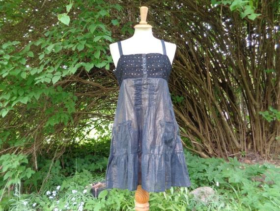 Vintage Dress size UK8; River Island Cotton Dress