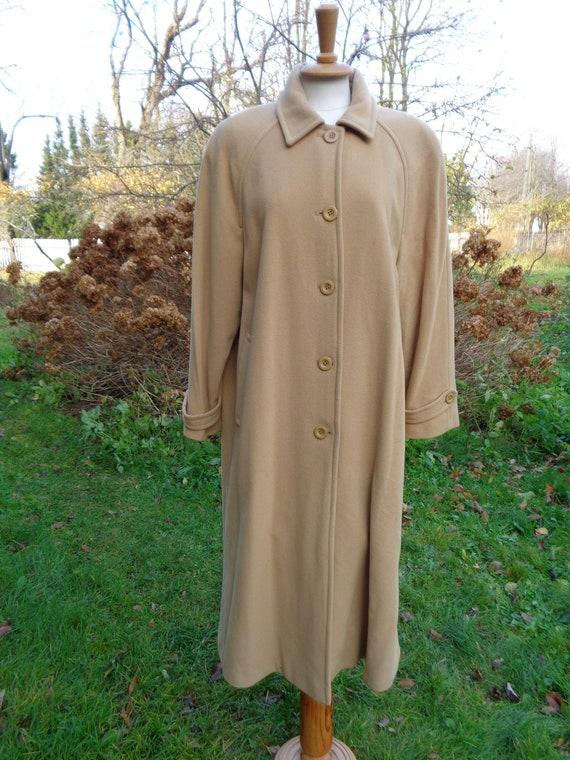 Raglan Manteau ; Laine Cachemire Classiques Long Beige Surdimensionné Grosseamp; Vintage Manches Femme SzqVjMGLUp
