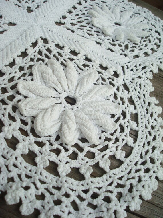 Tapete de Crochet vintage Tapete de Crochet irlandés cordón | Etsy