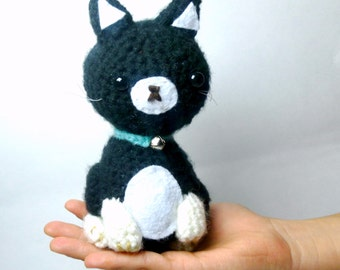 Crochet Cat Plush Black Cat | Stuffed Animal Cat | Crochet Animal | Black Cat Crochet  | Stuffed Animals | Crochet Cat Stuffed Animal Cat