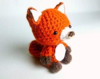 Crochet Animal Crochet Fox Plush | Fox Crochet Animal | Amigurumi Fox | Plush Fox Stuffed Animal | Red Fox Plush | Crochet Amigurumi