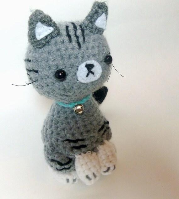 Crochet Cat Plush Tabby Cat Stuffed Animal Cat Crochet Etsy