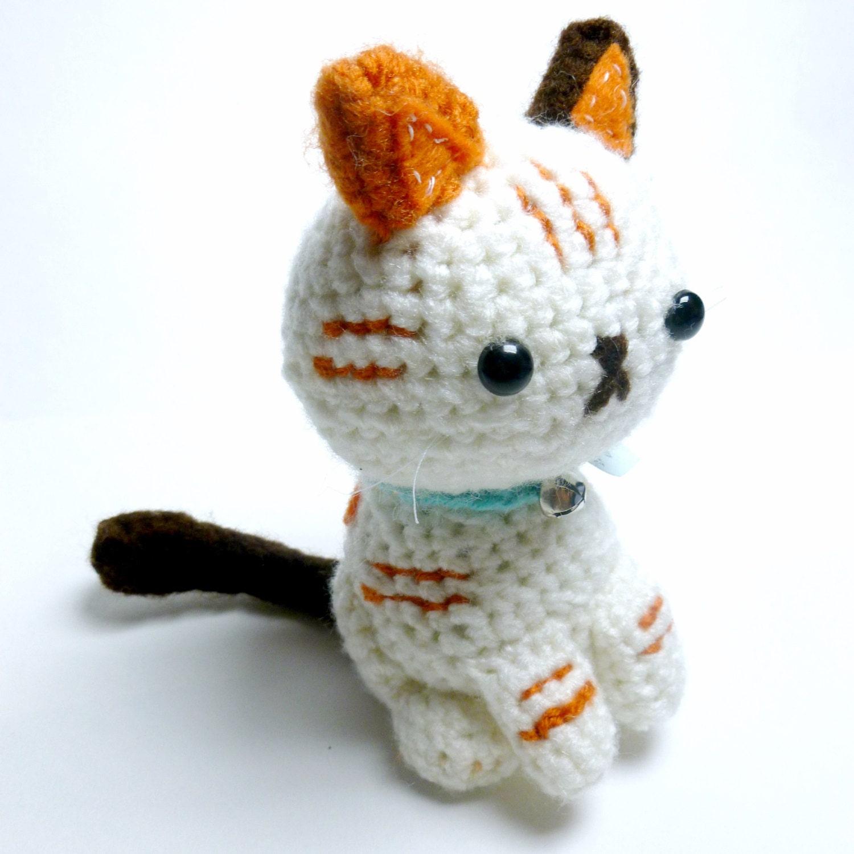 Cute Plush Calico Cat Stuffed Animal Cute Plush Crochet Cat Etsy