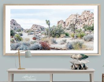 Joshua Tree/Fine Art Photography/California National Park/Nature Landscape Panorama/Extra Large Wall Decor/Boho Print/Metal Canvas Paper
